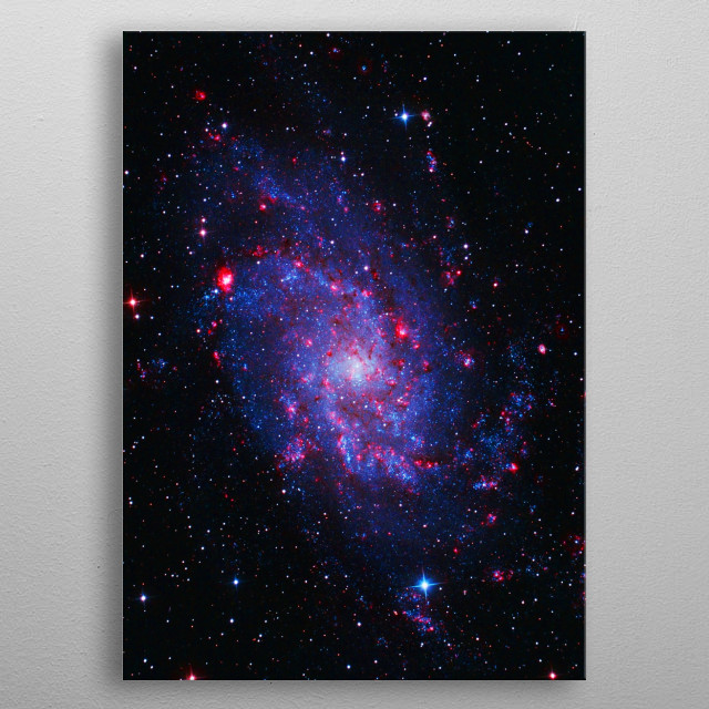 Triangulum Galaxy metal poster
