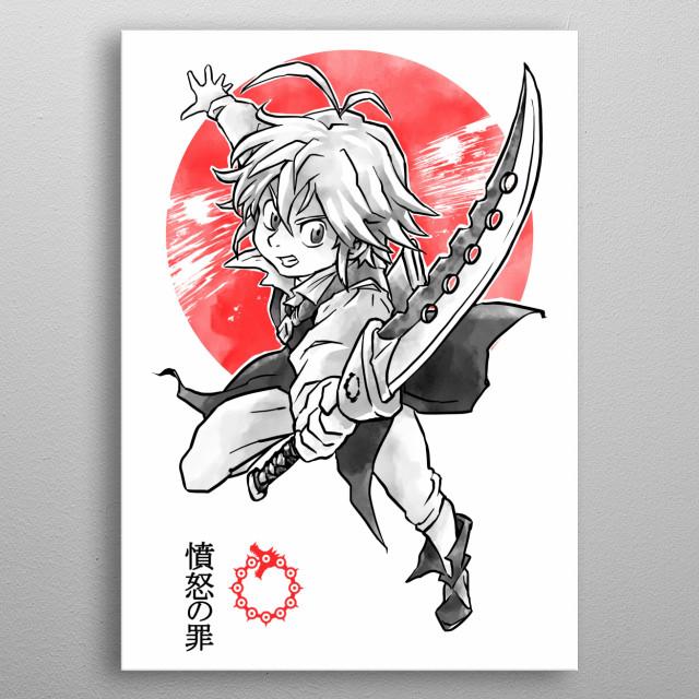 Dragon wrath metal poster