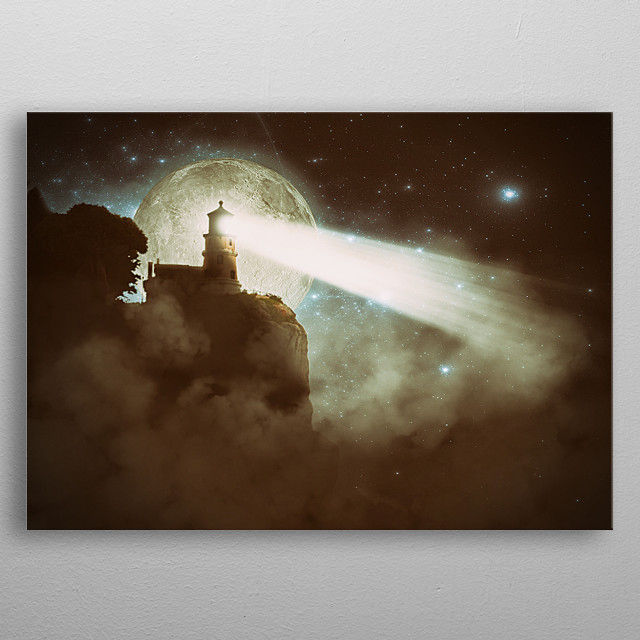 Lighthouse metal poster