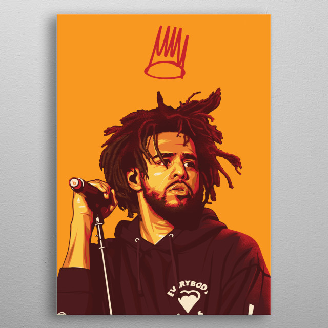 J Cole Poster metal poster