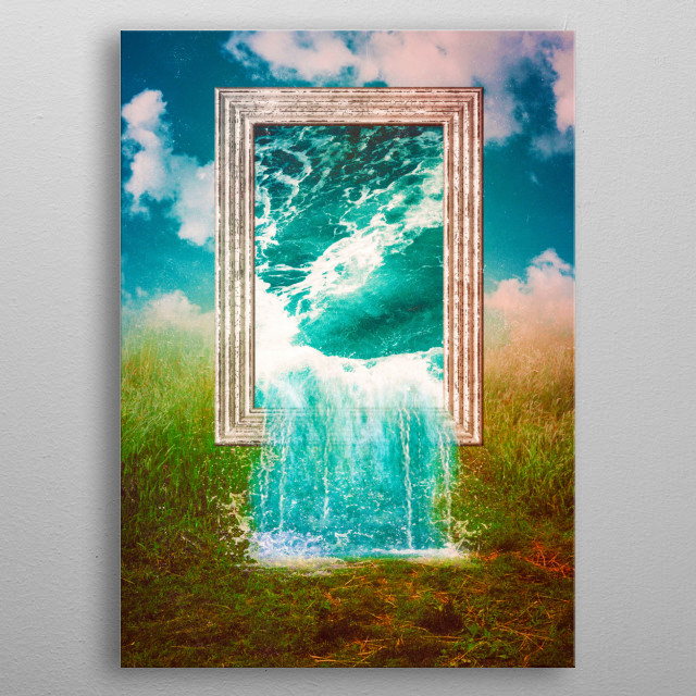 Everything Was Water metal poster