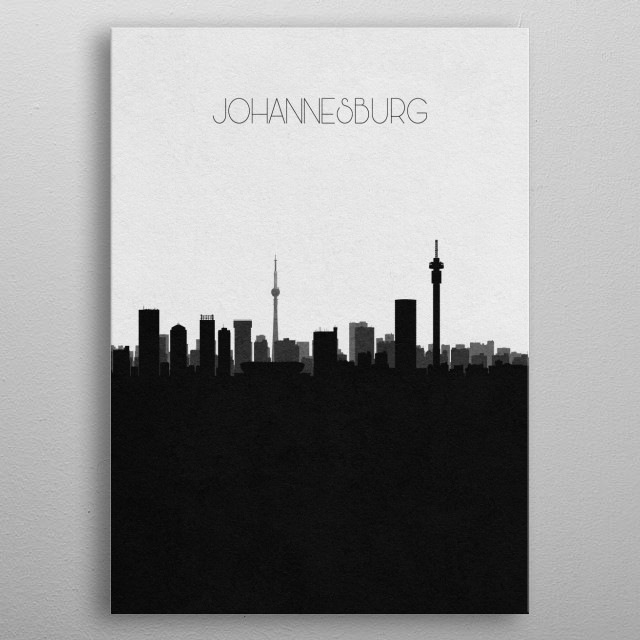 Destination: Johannesburg metal poster