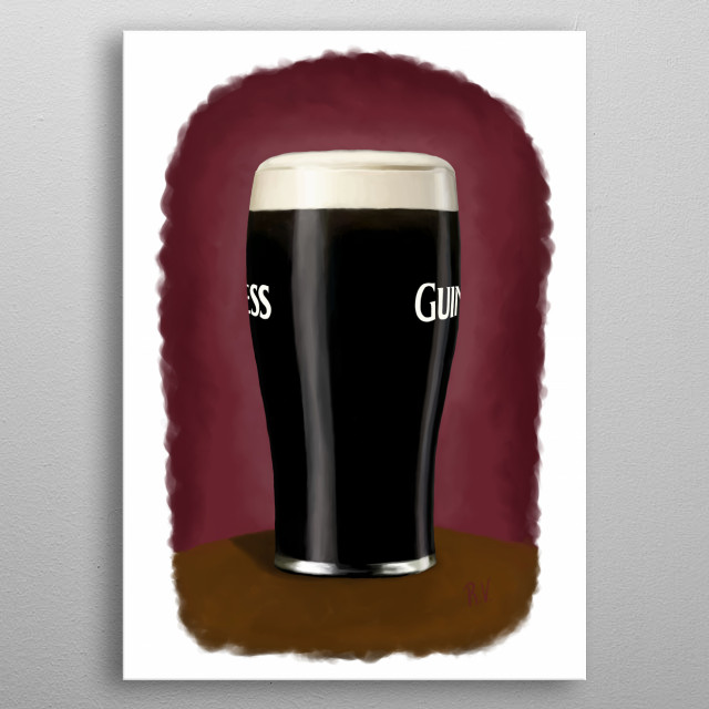 A pint of the black stuff metal poster