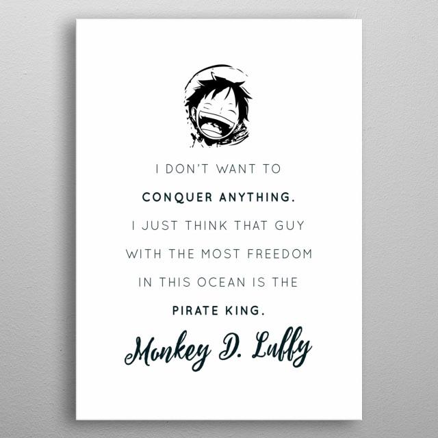 Pirate King: Luffy metal poster