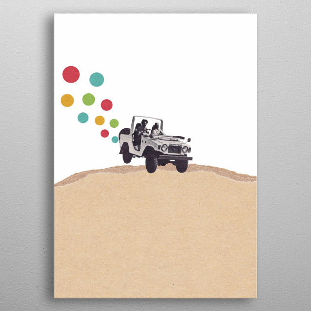 Off Road metal poster