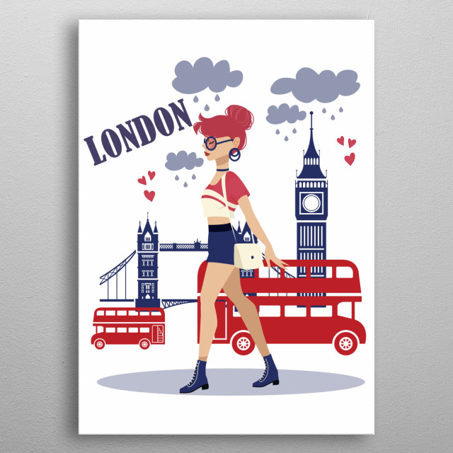 Fascinating  metal poster designed with love by Daniillustration. Decorate your space with this design & find daily inspiration in it. metal poster