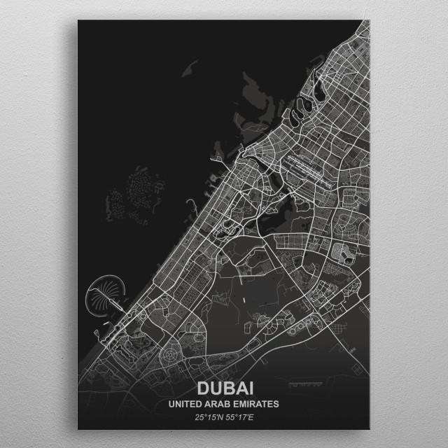 Dubai - UAE metal poster