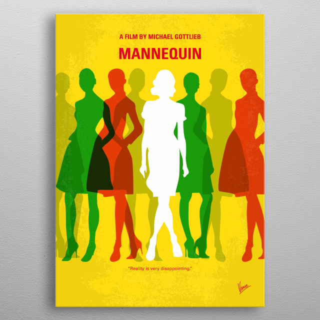 No984 My Mannequin minimal metal poster