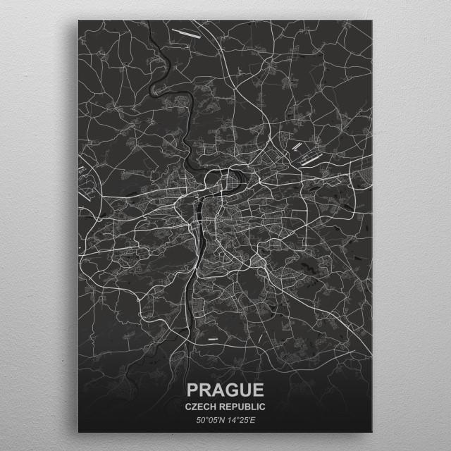Prague - Czech Rep. metal poster