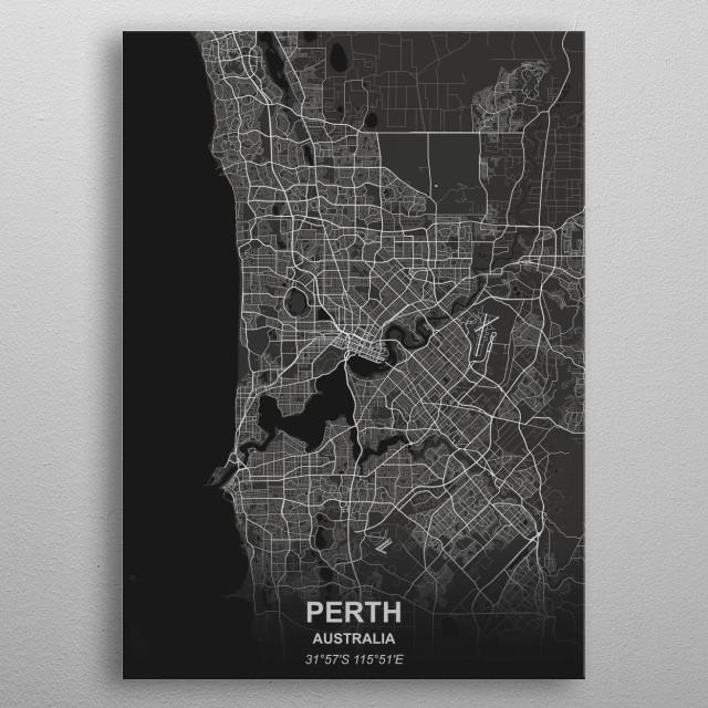 Perth - Australia metal poster