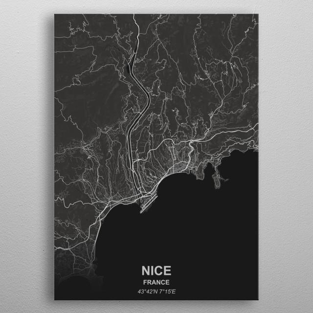 Nice - France metal poster