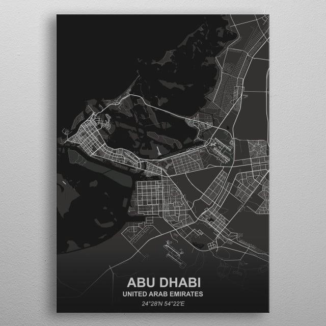 Abu Dhabi - UAE metal poster