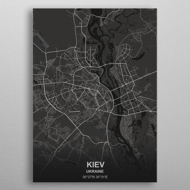 Kiev - Ukraine metal poster