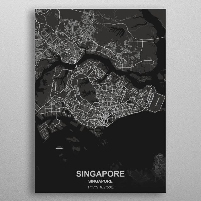 Singapore - Singapore metal poster