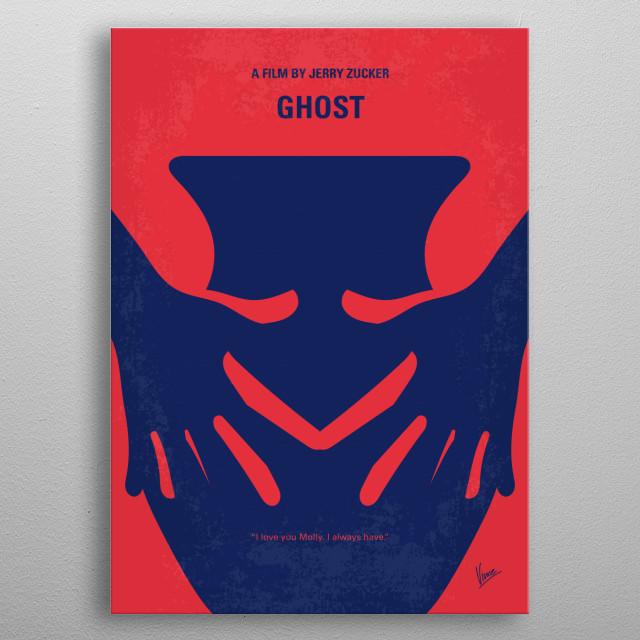 No971 My Ghost minimal metal poster