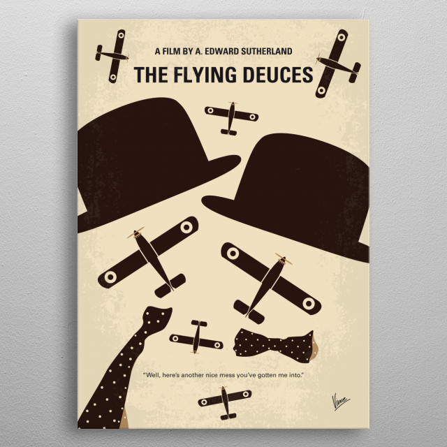No983 My The Flying Deuces metal poster