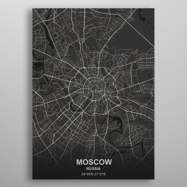 Moscow - Russia metal poster