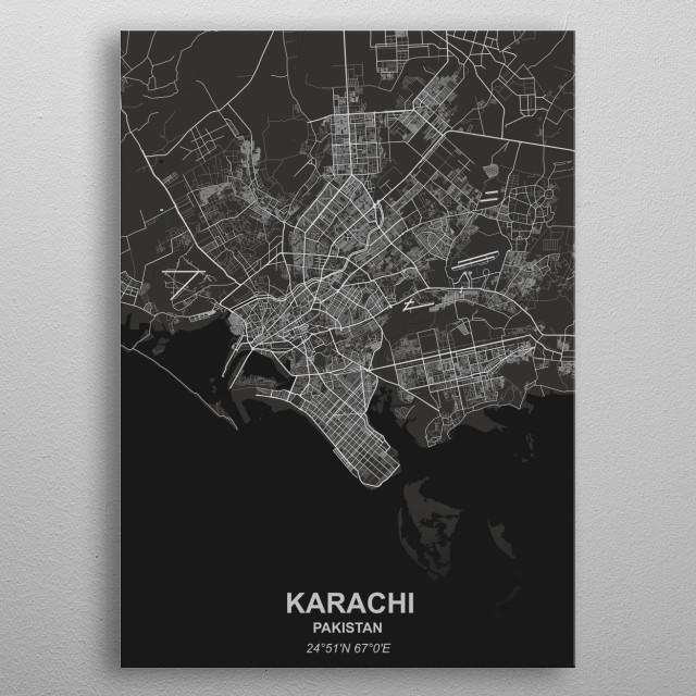 Karachi - Pakistan metal poster