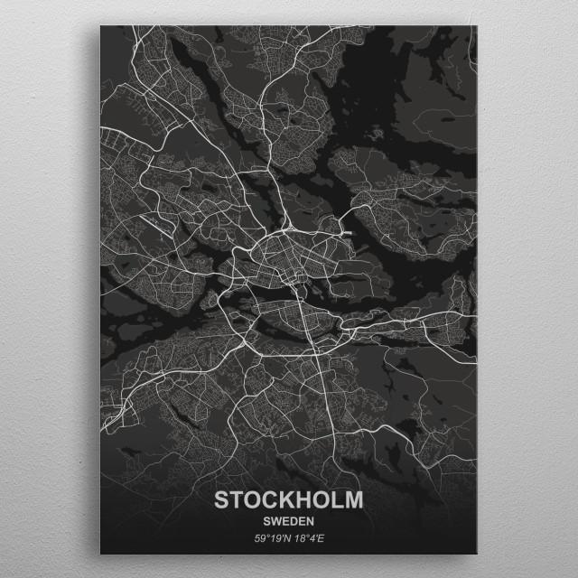 Stockholm - Sweden metal poster