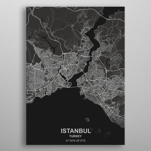 Istanbul - Turkey metal poster