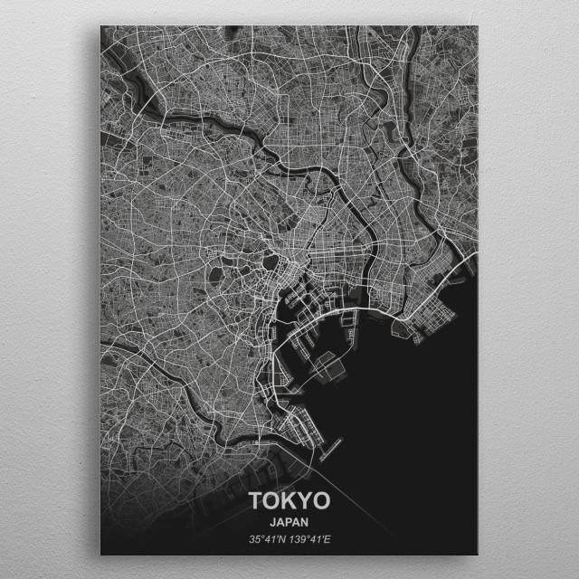 Tokyo - Japan metal poster