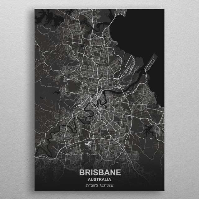 Brisbane - Australia metal poster