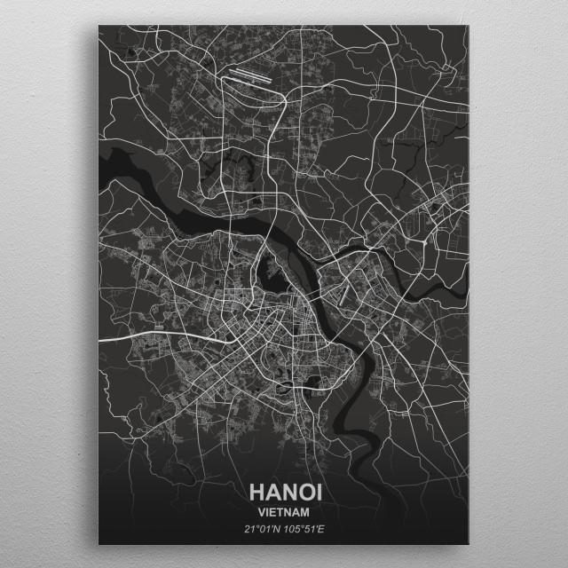 Hanoi - Vietnam metal poster