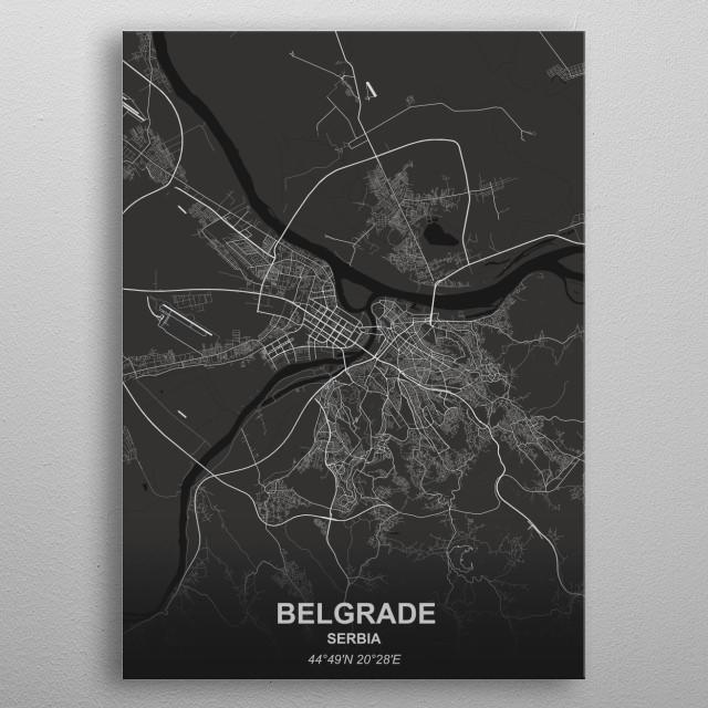 Belgrade - Serbia metal poster