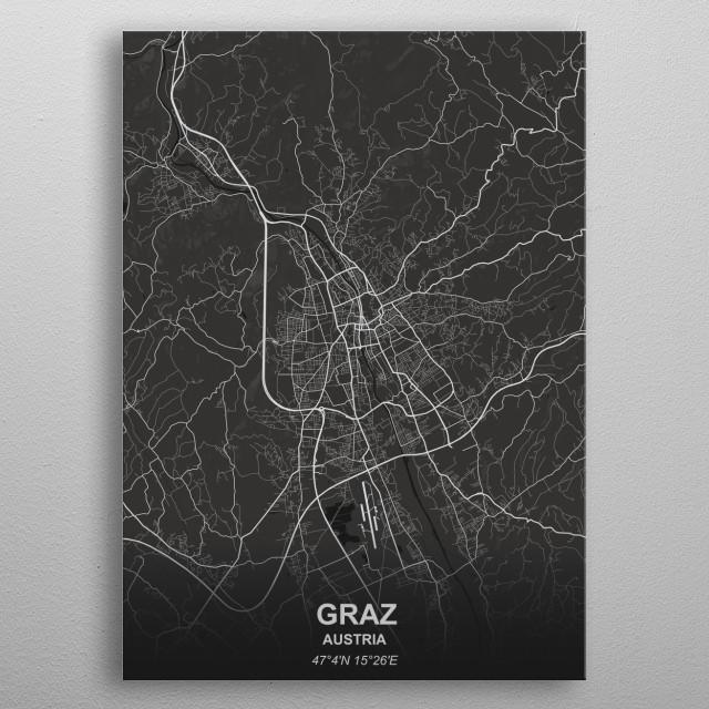 Graz - Austria metal poster