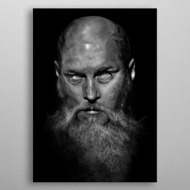 all hale king ragnar... one of my best digital paintings ive ever done. metal poster