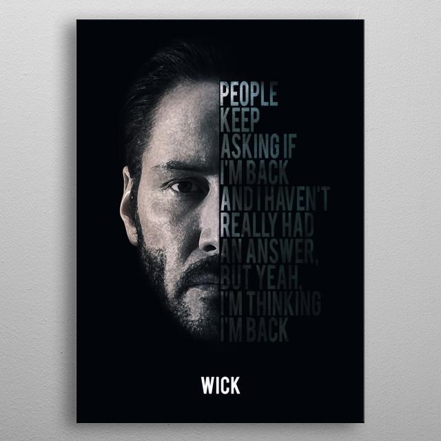 John Wick - I Am Back metal poster