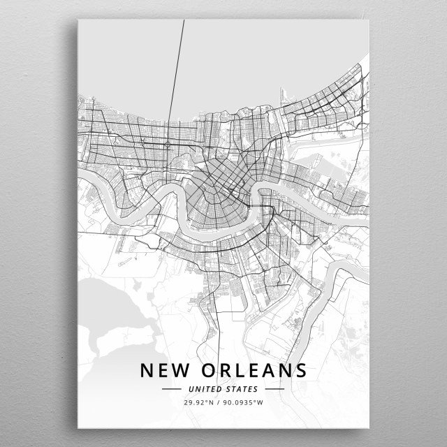 New Orleans, United States metal poster