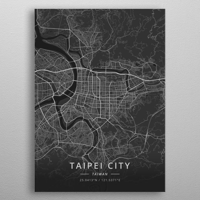 Taipei City, Taiwan metal poster
