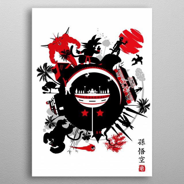 Circle of Dragon metal poster