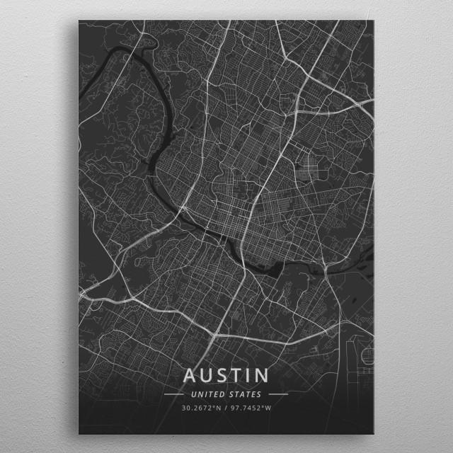 Austin, United States metal poster