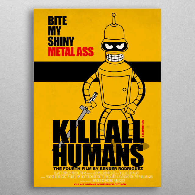 Kill all humans metal poster