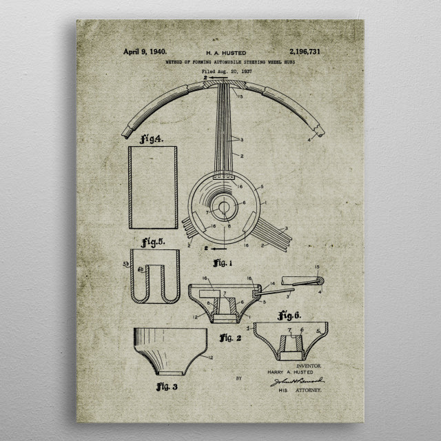 High-quality metal print from amazing Engines And Parts Patent Drawing No2 collection will bring unique style to your space and will show off your personality. metal poster