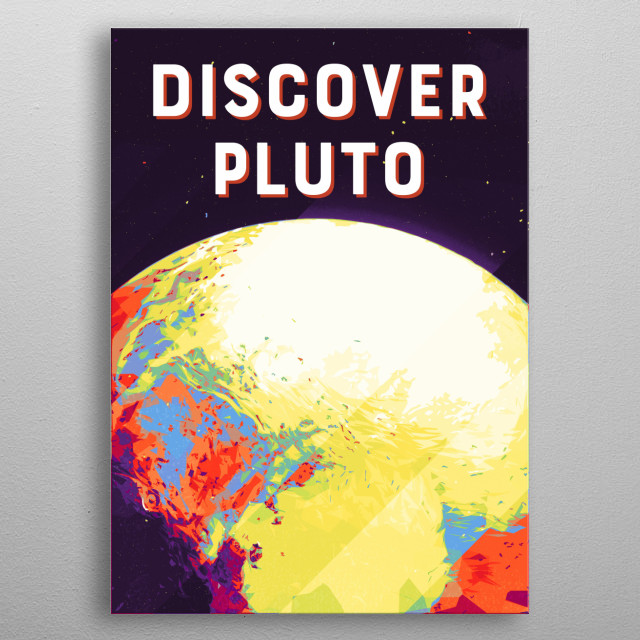 Discover Pluto metal poster