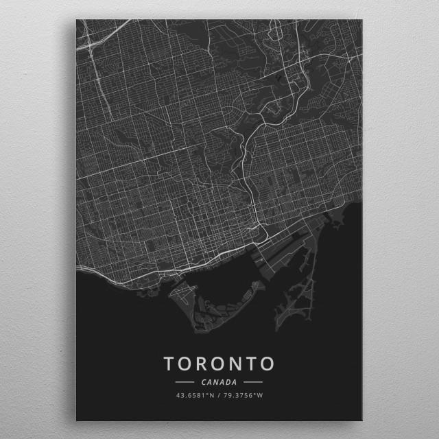 Toronto, Canada metal poster