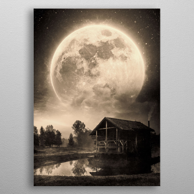 The House And The Moon metal poster