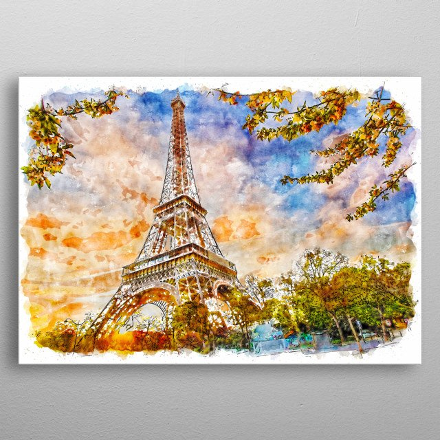 Paris - Eiffel Tower metal poster