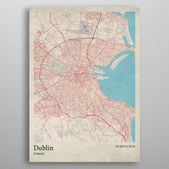 Dublin - Ireland metal poster