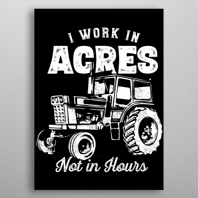 Farmer Acres metal poster