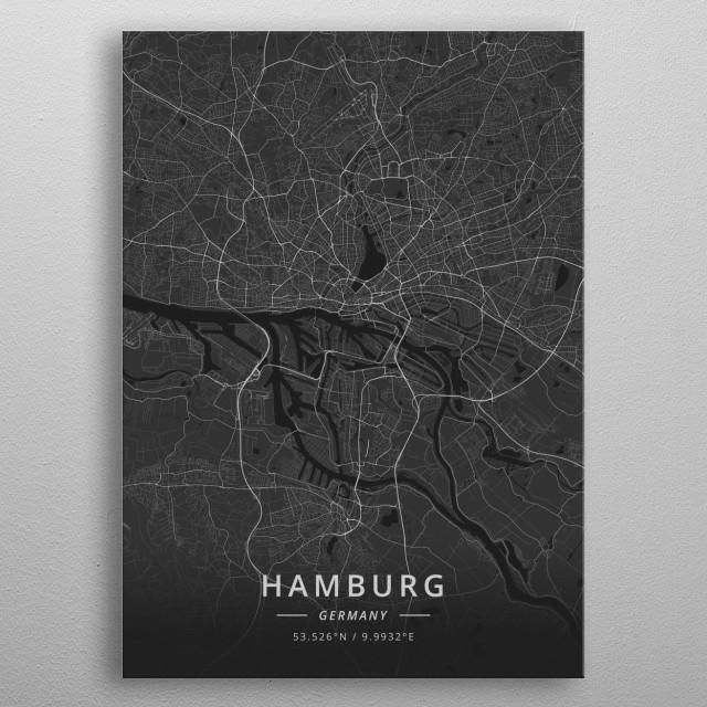 Hamburg, Germany metal poster