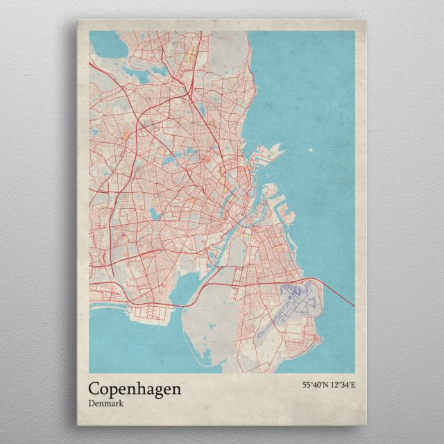 Copenhagen - Denmark metal poster
