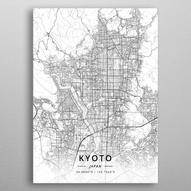 Kyoto, Japan metal poster