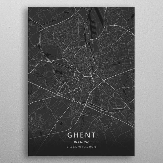 Ghent, Belgium metal poster