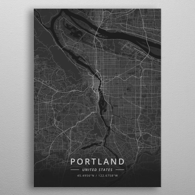 Portland, United States metal poster