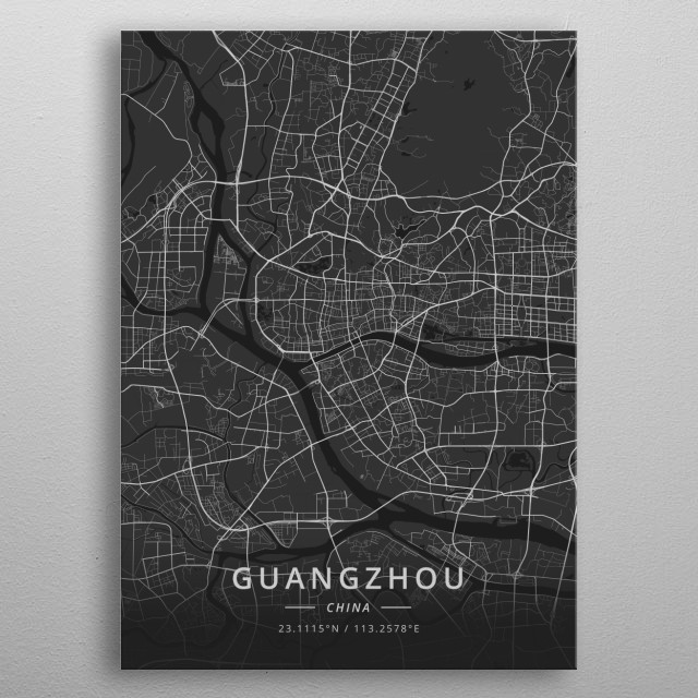 Guangzhou, China metal poster