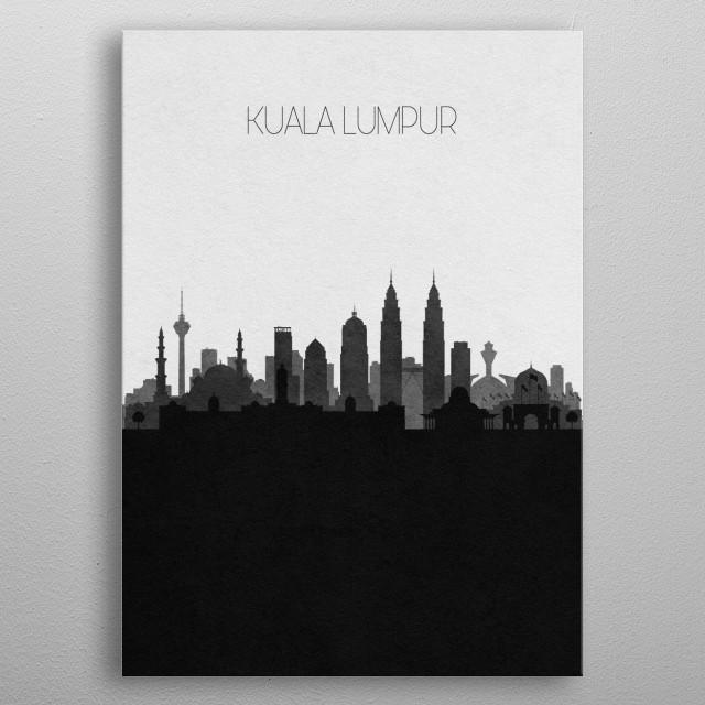 Destination: Kuala Lumpur metal poster